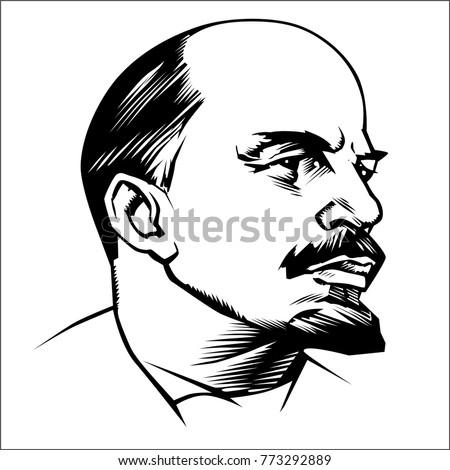 vladimir lenin  portrait icon