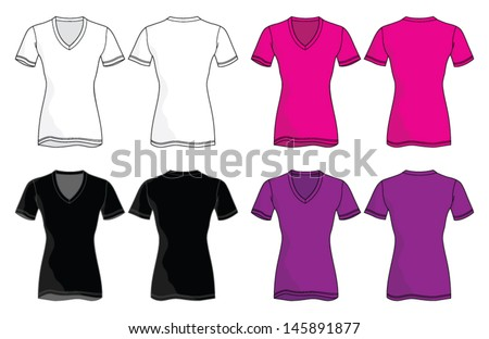 vneck shirt vector template