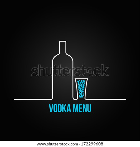vodka bottle glass deign menu