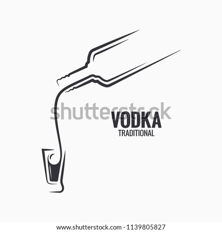 vodka bottle logo vodka shot