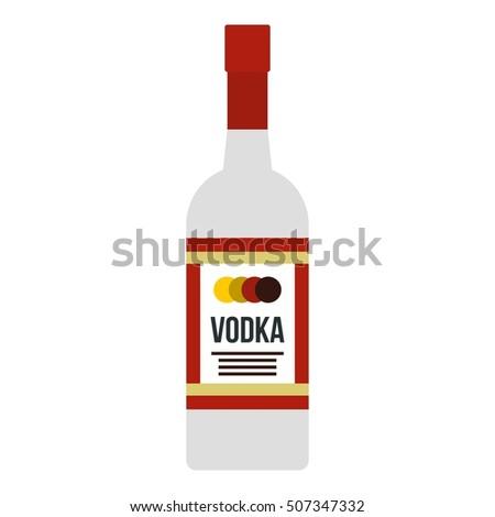 vodka icon flat illustration