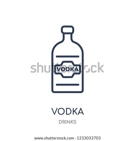 vodka icon vodka linear symbol