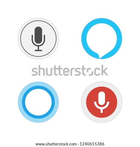 Voice assistants. Icon set of popular voice assistants. Vector illustration.