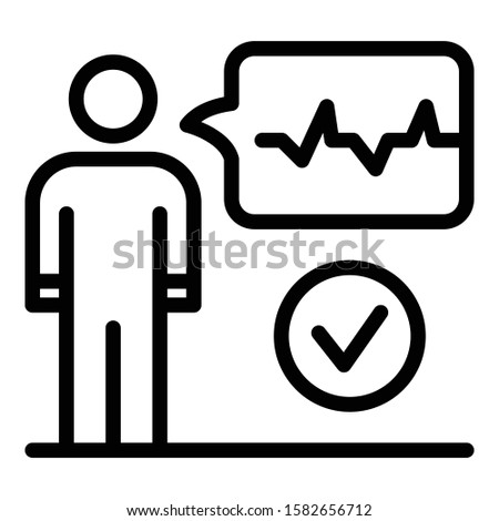 Voice authentication icon. Outline voice authentication vector icon for web design isolated on white background