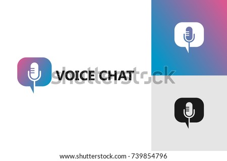 Voice Chat Logo Template Design