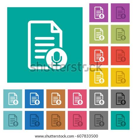voice document multi colored