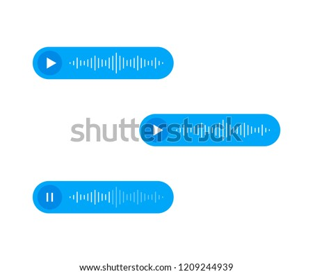 Voice Messages icon, event notification. Modern flat style vector illustration.