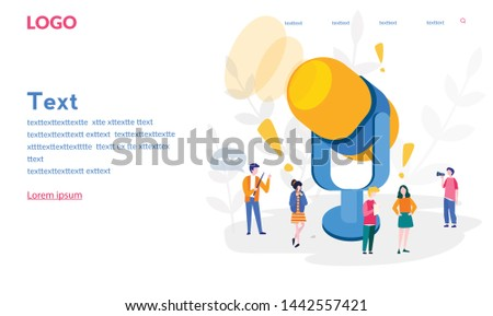 Voice Technology, Personal assistant, Sound wave intelligent technologies. microphone and team work, smart speaker. Voice activated digital assistants, Vector illustration for social media, web, print #1442557421
