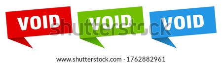 void banner void speech bubble