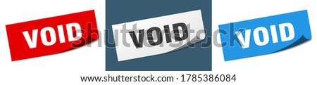 void sticker set void paper