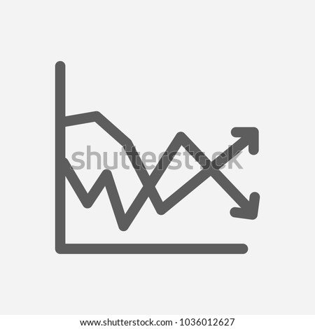 Volatility icon line symbol. Isolated vector illustration of  icon sign concept for your web site mobile app logo UI design.