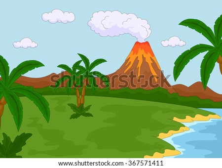 volcanic eruption vector