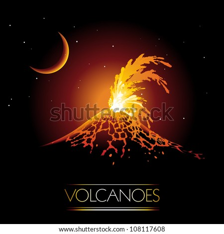 volcano erupting and spewing