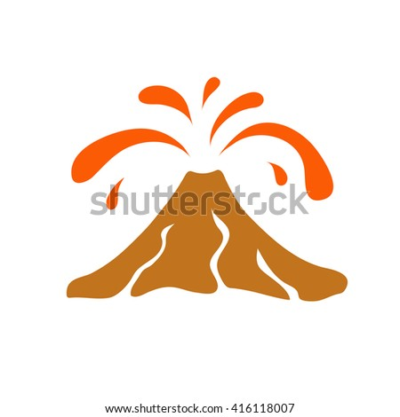 volcano eruption logo  vector