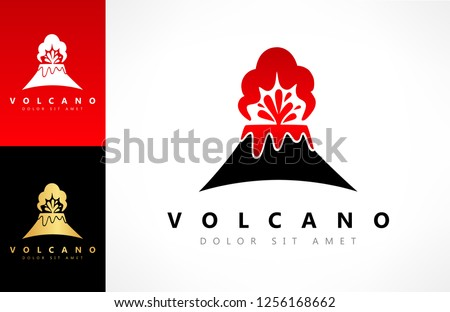 volcano eruption vector logo