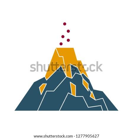 volcano icon   mountain