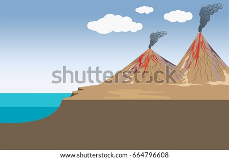 volcano is a rupture in the