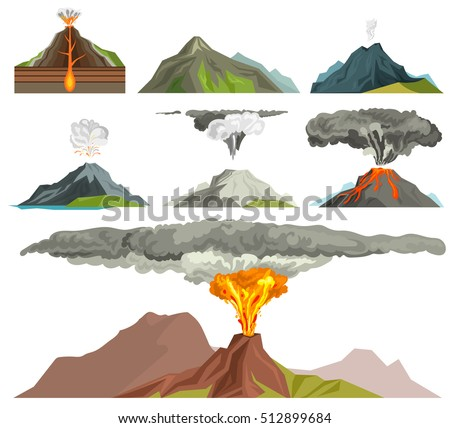 volcano magma nature blowing up