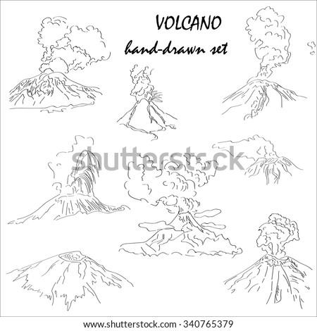 volcano mountain peak eruption