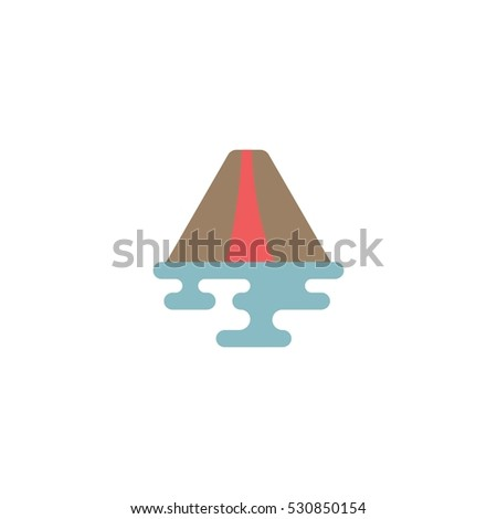 volcano mountain vector logo