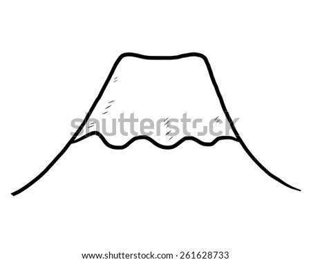 volcano snow mountain  fuji