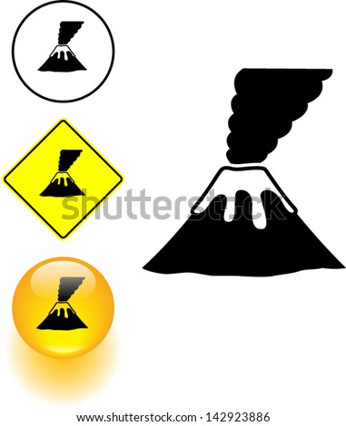 Volcano Symbol Volcano Symbol Stock V...