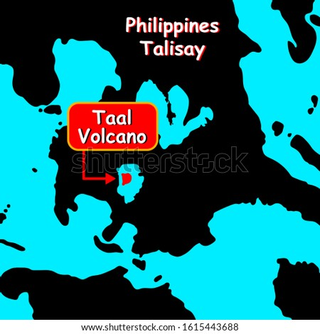 volcano taal on map philippines