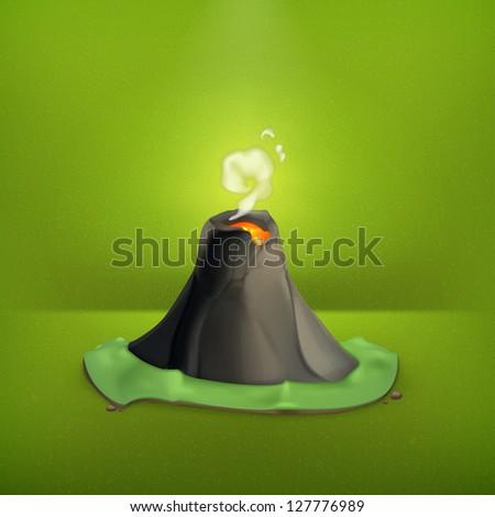 volcano  vector icon