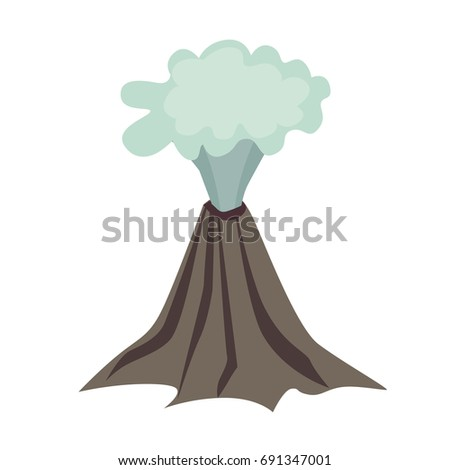 volcano vector icon icelandic