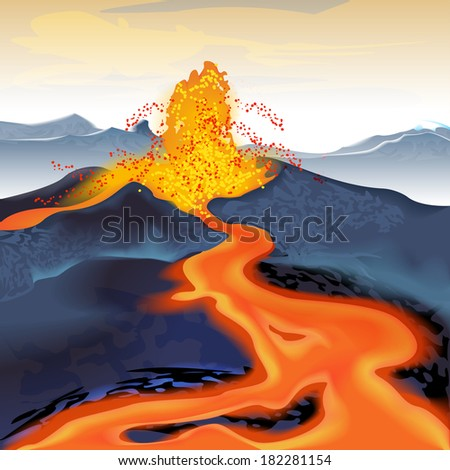 volcano volcanic eruption