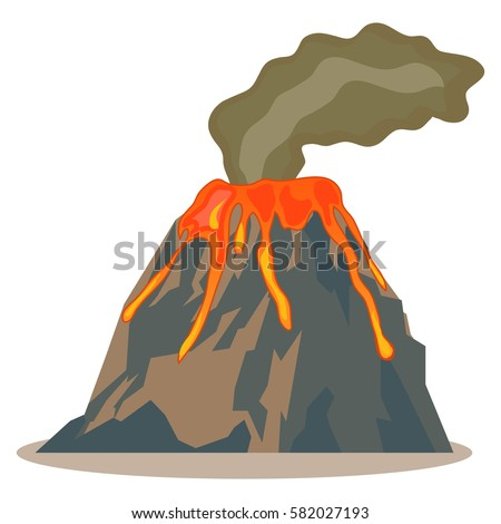 volcano  volcano icon  hot lava