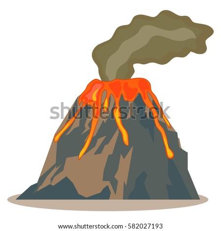 volcano  volcano icon  hot lava