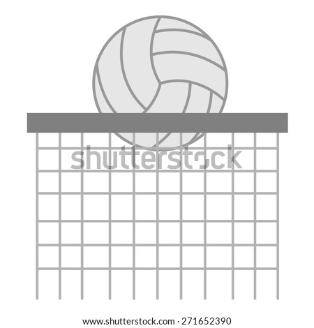Volley Ball and Net