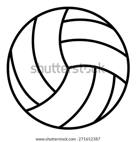 Volley Ball Outline