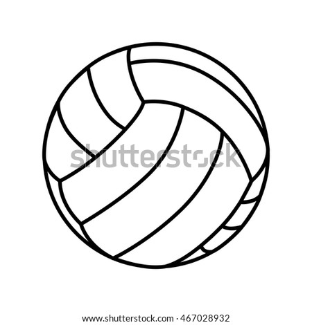 volleyball ball game sport play handball object  vector graphic isolated and flat illustration