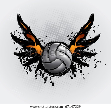 Volleyball Ball Set 6 Design Element Vector Drawing