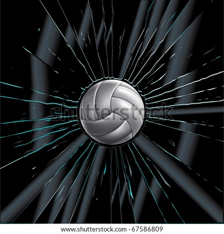 volleyball ball set 7 vector