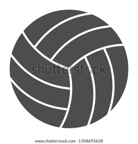 Volleyball ball solid icon. Sport equipment vector illustration isolated on white. Game glyph style design, designed for web and app. Eps 10
