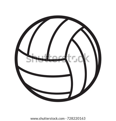 volleyball ball sports activity play competition tournament, stock vector illustration