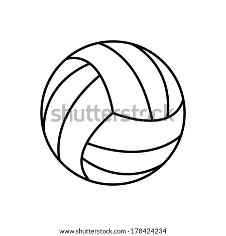 volleyball ball   vector icon