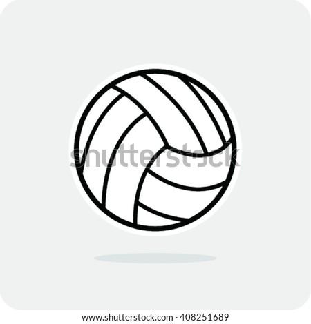 volleyball ball vector illustration