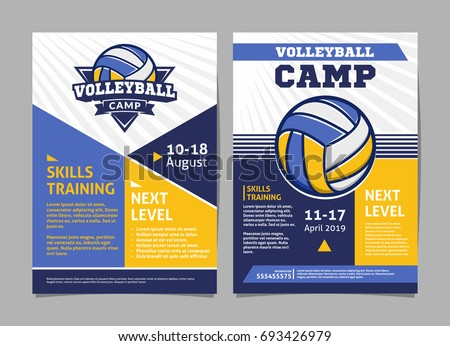 volleyball camp posters  flyer