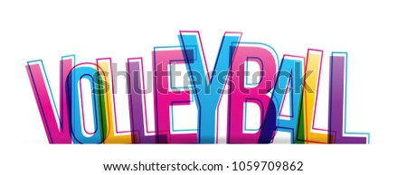 Volleyball colorful letters