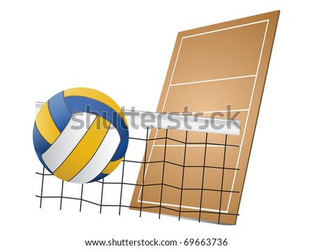 Volleyball design elements