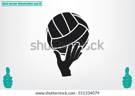 Volleyball Icon Vector.