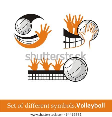 volleyball icon. vector symbol