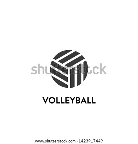 volleyball icon vector. volleyball vector graphic illustration