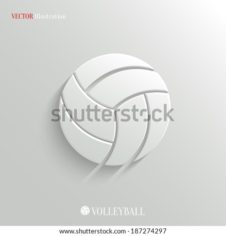 Volleyball icon vector web illustration easy paste to any background