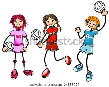 Volleyball Kids - Vector