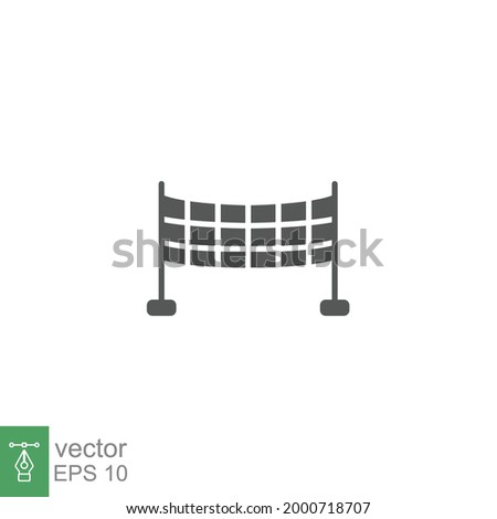 volleyball net, sport icon. Badminton net, Sport nets, field equipment, badminton competition. Pictogram glyph style symbol. solid logo. vector illustration. Design on white background. EPS 10